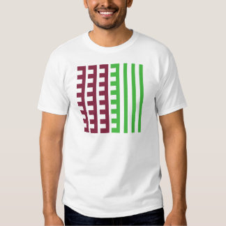 Burgundy and Green Combs Tooth T-shirt