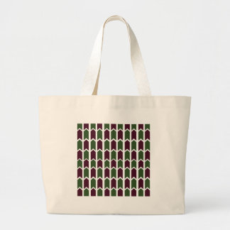 Burgundy and Green Panel Fence Canvas Bags