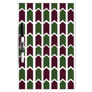 Burgundy and Green Panel Fence Dry Erase Board