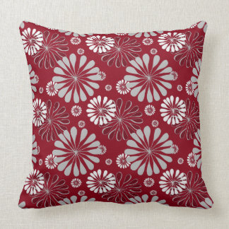 Burgundy Floral Throw Pillows : Grey And Burgundy Pillows - Decorative & Throw Pillows Zazzle