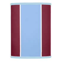 Burgundy and Light Blue Lamp Shade