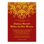 Burgundy and Yellow Wedding Invitation
