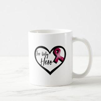 Burgundy Awareness Ribbon For My Hero Coffee Mug
