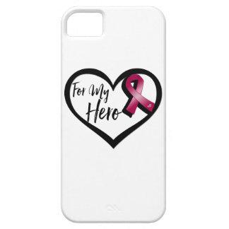 Burgundy Awareness Ribbon For My Hero iPhone SE/5/5s Case