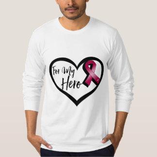 Burgundy Awareness Ribbon For My Hero Shirt