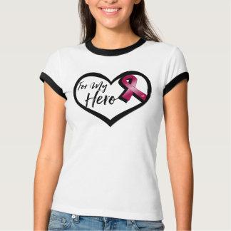 Burgundy Awareness Ribbon For My Hero T Shirt