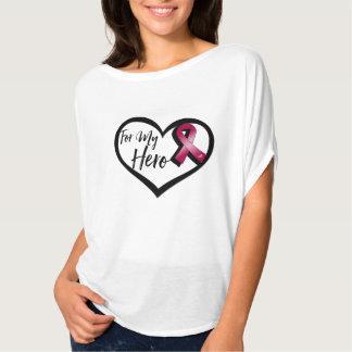 Burgundy Awareness Ribbon For My Hero Tee Shirt