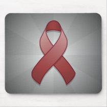 Burgundy Awareness Ribbon Mousepad