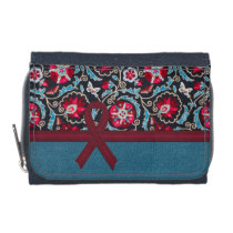 Burgundy Awareness Ribbon Wallet Change Purse