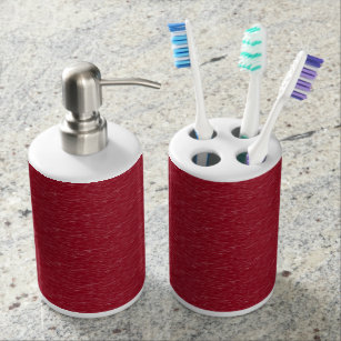 Grey And Burgundy Bath Accessory Sets