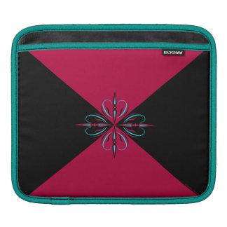 Burgundy & Black Edwardian iPad Sleeve