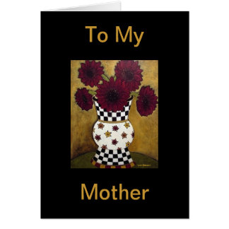 Burgundy Black Sunflowers Mother's Day Card