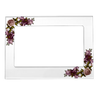 Burgundy Blossoms Magnetic Frame