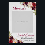 "Burgundy Blush Floral Bridal Shower Photo Prop Poster<br><div class=""desc"">Burgundy Blush Floral Bridal Shower Photo Prop Poster. (1) The default size is 24""x36"" inches, you can change it to other size. 18""x27"" (1-2 people), 24""x36"" (2-3 people), 32""x48"" (3-4 people). (2) Once your receive the poster, you need to mount it on a foam board (Foam board can usually be...</div>"