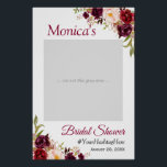 "Burgundy Blush Floral Bridal Shower Photo Prop Poster<br><div class=""desc"">Burgundy Blush Floral Bridal Shower Photo Prop Poster. (1) The default size is 24&quot;x36&quot; inches, you can change it to other size. 18&quot;x27&quot; (1-2 people), 24&quot;x36&quot; (2-3 people), 32&quot;x48&quot; (3-4 people). (2) Once your receive the poster, you need to mount it on a foam board (Foam board can usually be...</div>"