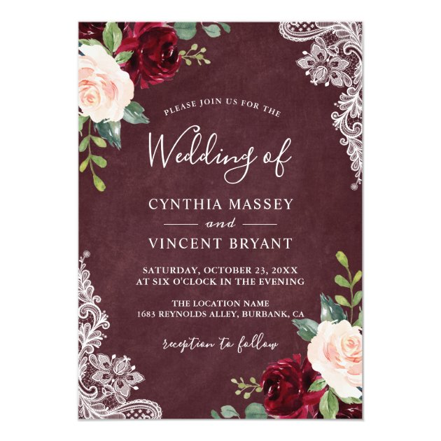 3953d644ccb Lace Wedding Invitations | Mimoprints