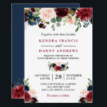 "Burgundy Blush Navy Blue Floral Botanical Wedding Invitation<br><div class=""desc"">Burgundy Navy Blue Blush Floral Botanical Wedding Invitation. (1) For further customization, please click the &quot;customize further&quot; link and use our design tool to modify this template. (2) If you prefer Thicker papers / Matte Finish, you may consider to choose the Matte Paper Type. (3) If you need help or...</div>"