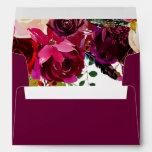 Burgundy Boho Floral Envelopes
