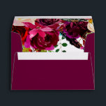"""Burgundy Boho Floral Envelopes<br><div class=""""desc"""">Burgundy Floral Water color on the inside Plum Purple on the Outside I suggest ordering one to see if this design works for you.</div>"""