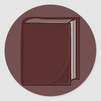 Burgundy Book - RoseBkg Classic Round Sticker