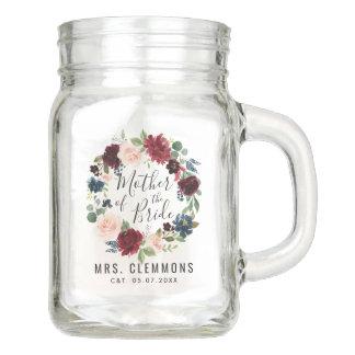 Burgundy Bouquet | Mother of the Bride Mason Jar