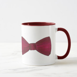 Burgundy Bow Tie Wedding Prom Bachelor Party Mug