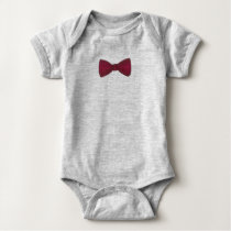 Burgundy Bow Tie Wedding Prom Bowtie Ring Bearer Baby Bodysuit