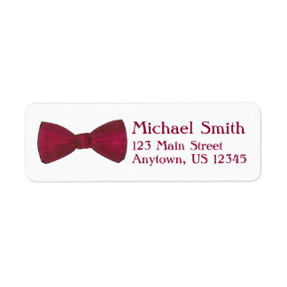 Burgundy Bow Tie Wedding Prom Formalwear Label