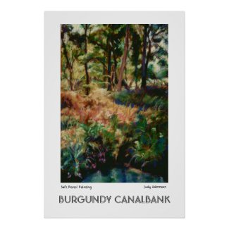 Burgundy Canalbank Poster or Print print