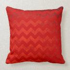 Burgundy Chevrons On Red Velvet Effect Background Throw Pillow (<em>$49.60</em>)