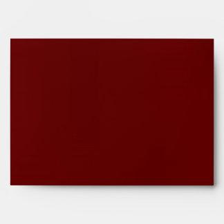 Burgundy Christmas Holiday Greeting Card Envelope Envelope