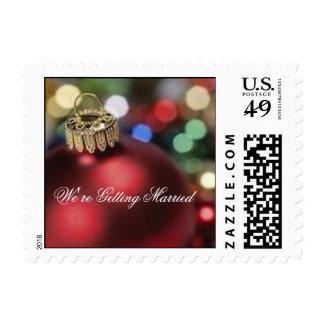 Burgundy Christmas Ornament Stamp