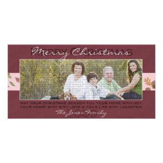 Burgundy Christmas Photo Card
