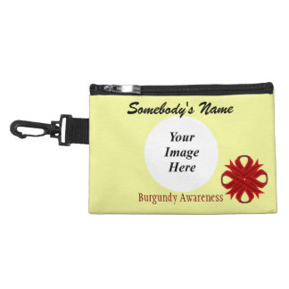 Burgundy Clover Ribbon Accessory Bags