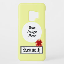 Burgundy Clover Ribbon by Kenneth Yoncich Case-Mate Samsung Galaxy S9 Case