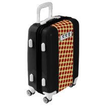 Burgundy Clover Ribbon by Kenneth Yoncich Luggage
