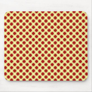 Burgundy Clover Ribbon by Kenneth Yoncich Mouse Pad