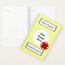 Burgundy Clover Ribbon by Kenneth Yoncich Planner