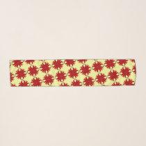 Burgundy Clover Ribbon by Kenneth Yoncich Scarf