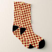 Burgundy Clover Ribbon by Kenneth Yoncich Socks