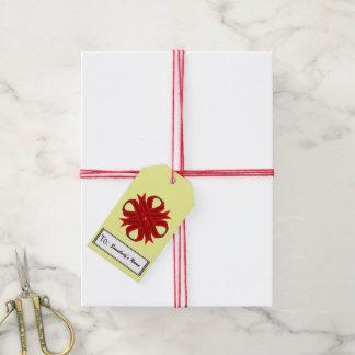 Burgundy Clover Ribbon Gift Tags