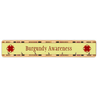 Burgundy Clover Ribbon Key Rack