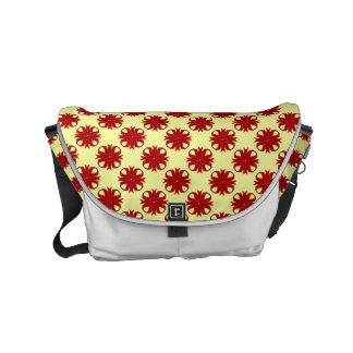 Burgundy Clover Ribbon Small Messenger Bag