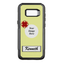 Burgundy Clover Ribbon Template by Kenneth Yoncich OtterBox Commuter Samsung Galaxy S8  Case