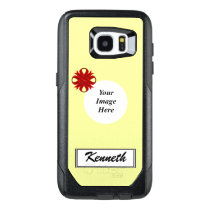 Burgundy Clover Ribbon Template by Kenneth Yoncich OtterBox Samsung Galaxy S7 Edge Case