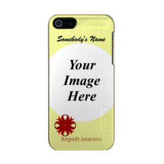 Burgundy Clover Ribbon Template Metallic iPhone SE/5/5s Case