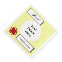 Burgundy Clover Ribbon Tmpl by Kenneth Yoncich Paper Dinner Napkin