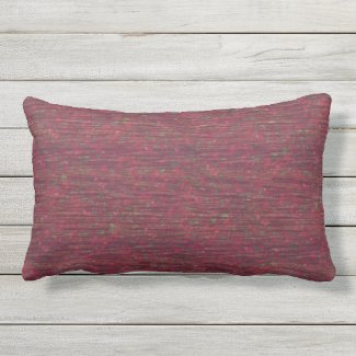 "Burgundy Color Flecked Outdoor Pillow 20"" x 20"""