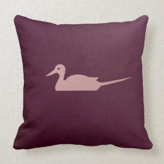 burgundy color gradeA cotton throw pillow
