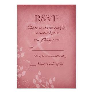 Burgundy Color Vintage RSVP 3.5x5 Paper Invitation Card